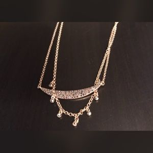 NWT BANANA REPUBLIC Factory Gold Swing Necklace
